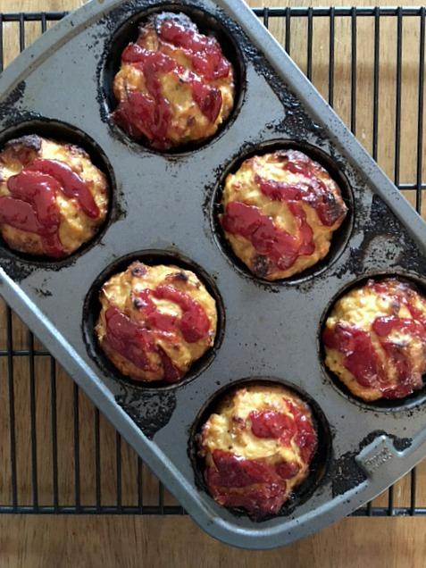 Meatloaf Cupcakes with Secret Ingredient