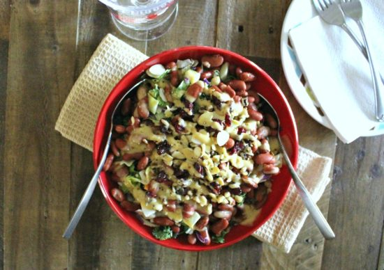 simple-chopped-mixed-greens-and-red-bean-salad