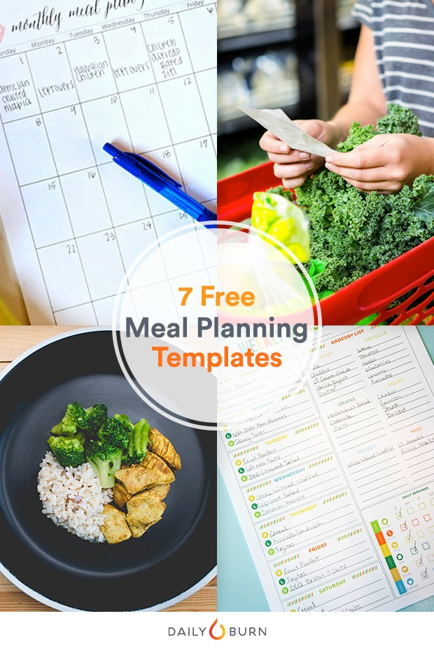 printable meal planning templates to simplify your life skinny