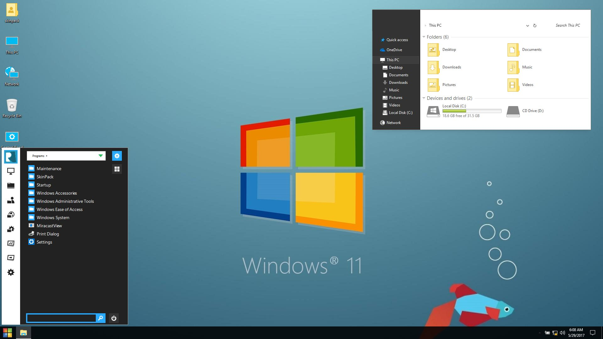 Windows 11 Skinpack For Win7 10 19h1 19h2 20h1 Skin Pack Theme