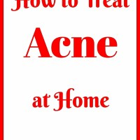 how to treat acne at home