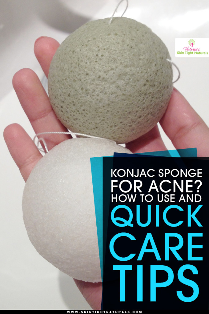 Konjac Sponge For Acne? How To Use and Quick Care Tips - Skin Tight Naturals