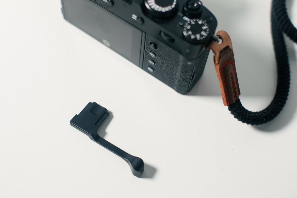 This is the best fujifilm x100v thumb grip I've used