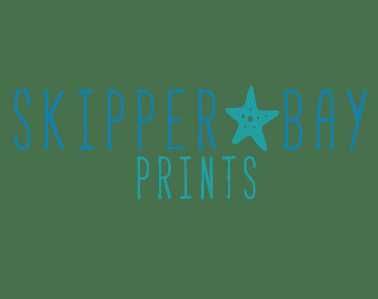 skipper bay prints clear light background