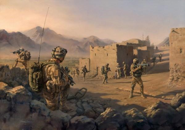 '45 Commando Group - Operation Herrick' Military Artist