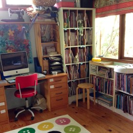 printing painting and mixed media desk