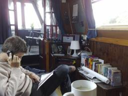 James reading a book on nbLuckyDuck