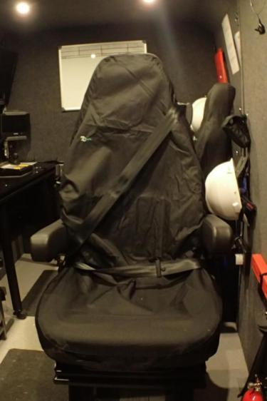 Co-Pilots chair approved for road passenger transport cw integral seat belt