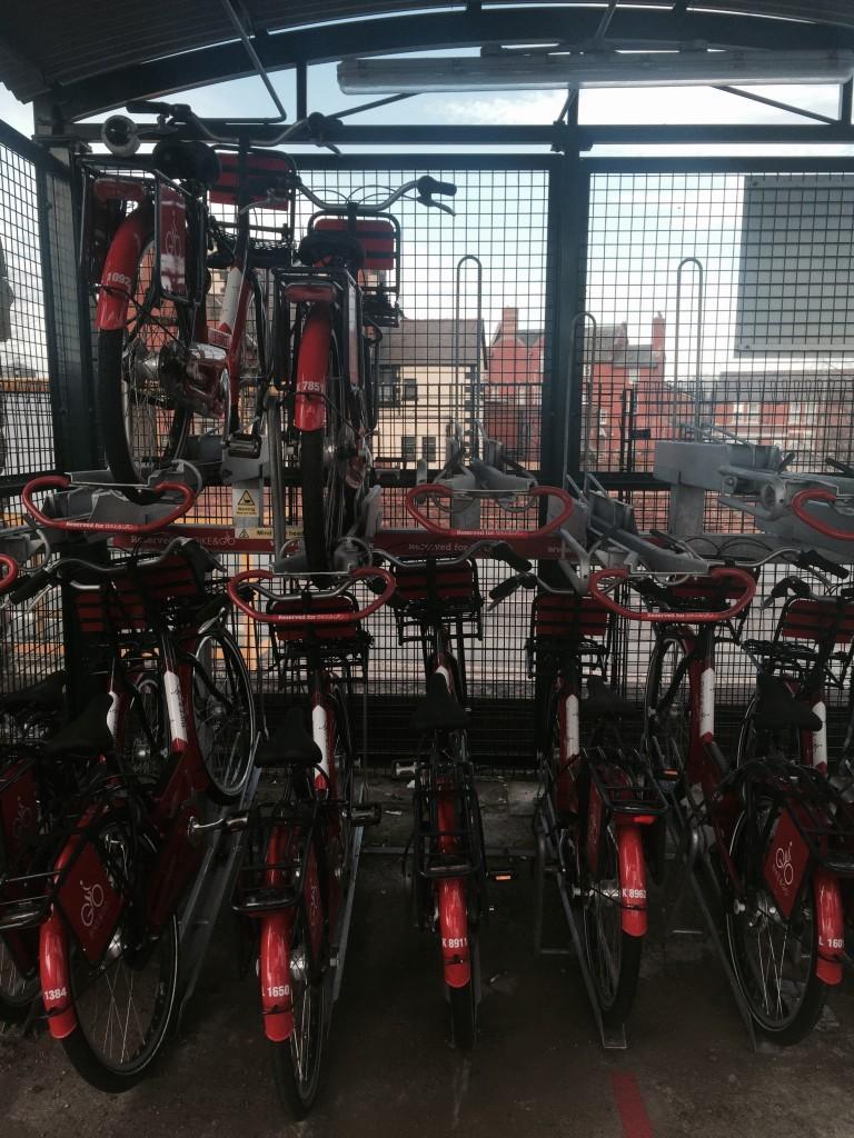 Bike and Go bikes safe and sound ready to borrow