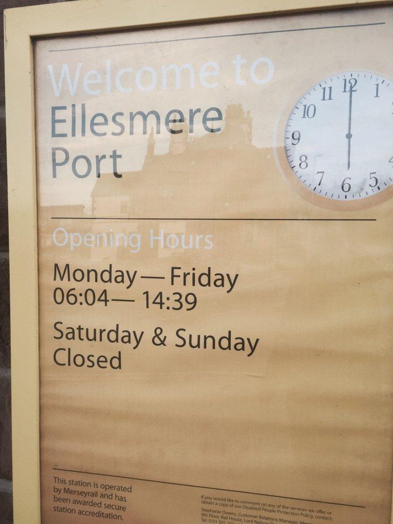 Ellesmere Port Station Opening times