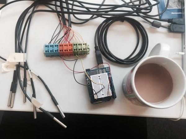 Arduino Temperature Thing with calibrated cup of tea