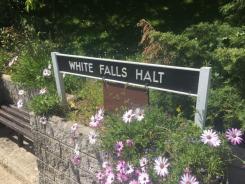 White Falls Halt station sign