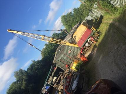 Ruston Bucyrus 22-R8 crane