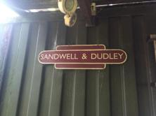 Sandwell and Dudley station sign