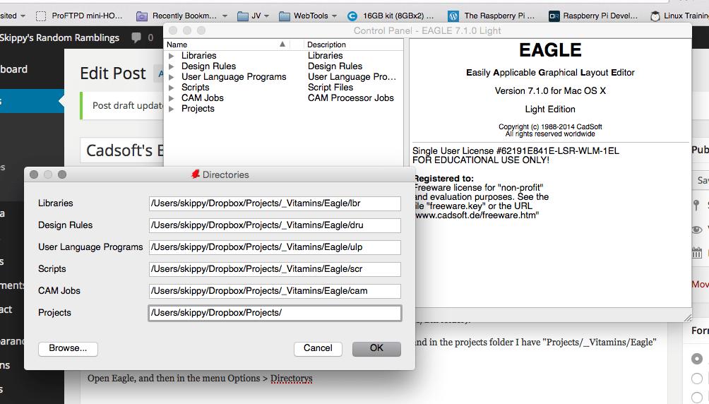 Cadsoft\'s Eagle on Multiple machines | Skippy\'s Random Ramblings