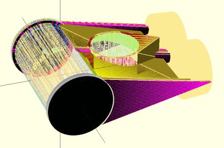 Skippy's OpenSCAD OpenROV Taking Shape