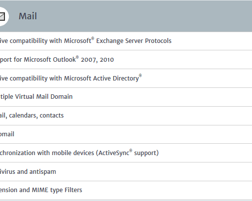 Mail Specifications