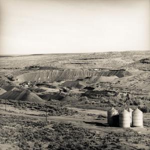 Aggregate Pit and Grain Bins - © Skip Smith