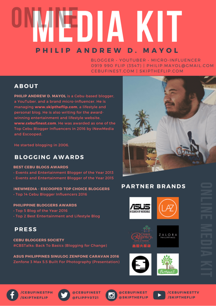 Online Media Kit - Philip Andrew Mayol | Skip The Flip