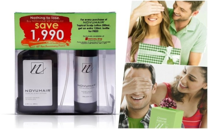 Choose Natural With Novuhair And Get An Extra Bottle For Free On Its 10th Year Promo | Skip The Flip