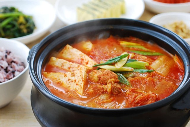 Kimchi is used most often for another Korean famous food, Kimchi jjigae (Kimchi stew) | Skip The Flip