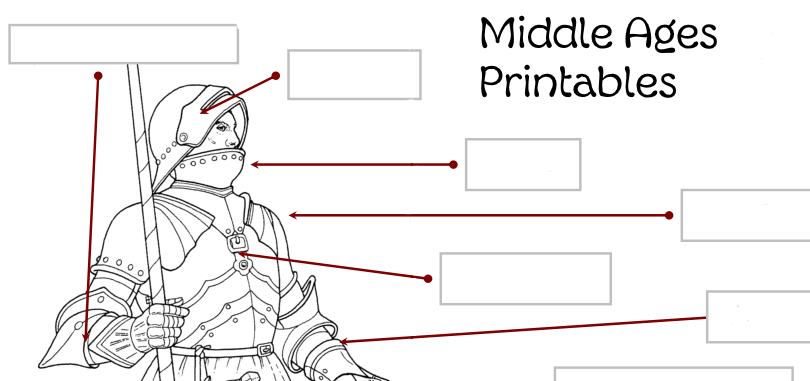 Middle Ages Printables