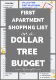 Print this checklist for first apartment shopping at Dollar Tree.