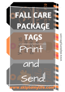 Print these 3 fun gift tags for a fall care package they'll love!