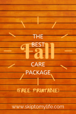 This one quick craft will help you mail the best fall care package to your student.