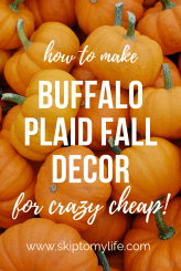 Watch me demonstrate how to make buffalo plaid decor for your fall front door!