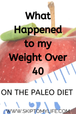 Follow my journey for weight loss over 40. Does the Paleo diet work?