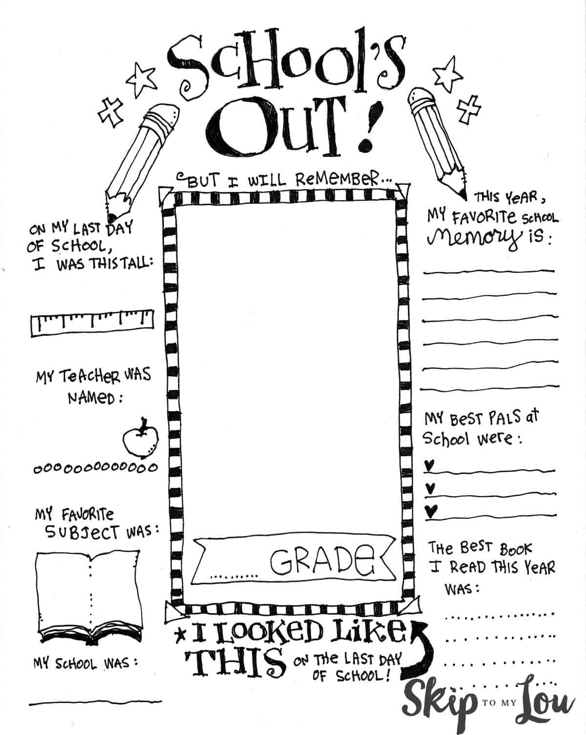 End Of The Year Coloring Pages : coloring, pages, Coolest, Printable, School, Coloring