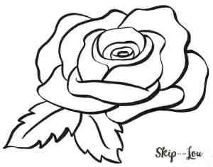 draw rose easy things printable drawing something step lou skip guides tutorial bloglovin