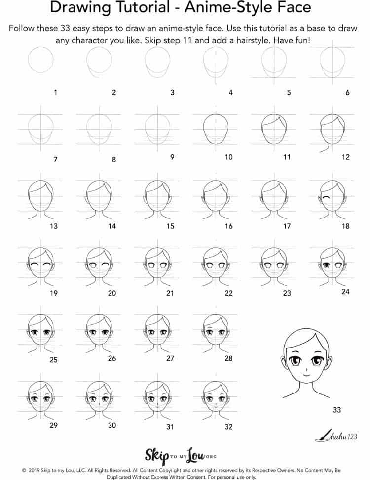Easy Anime Face : anime, Anime