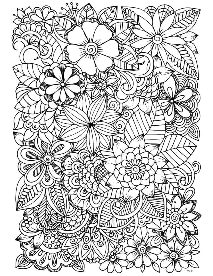 Cute Flowers Coloring Pages : flowers, coloring, pages, Flower, Coloring, Pages