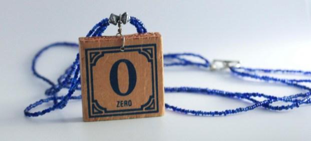 Zero Block Necklace