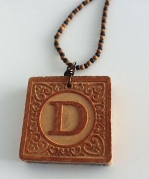 D Block Necklace