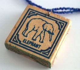 Elephant Block Necklace