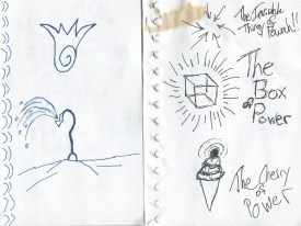 Powerful things (including the laziest of drawings). Also a bizarre sprinkler. Because reasons, that's why.