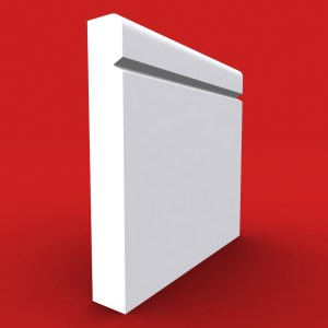 Bullnose V Grooved skirting board