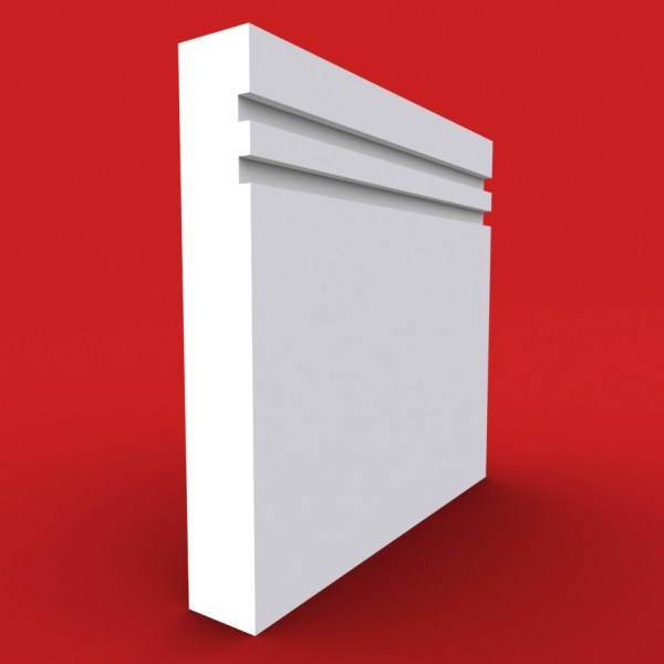 2 square grooved square edge profile