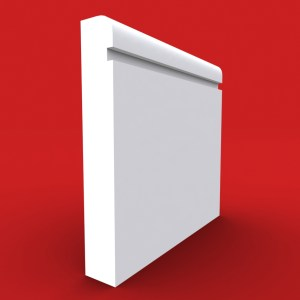 sqaure grooved bullnose skirting board