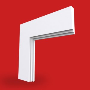 twice stepped small architrave