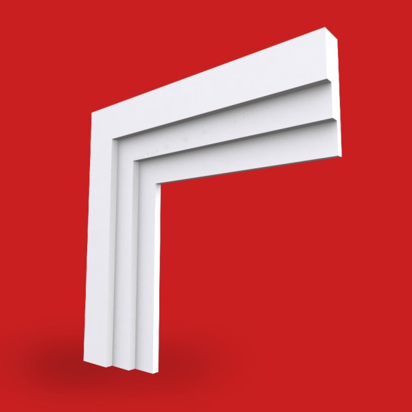 stepped architrave profile