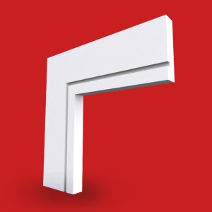 square edge single groove architrave image