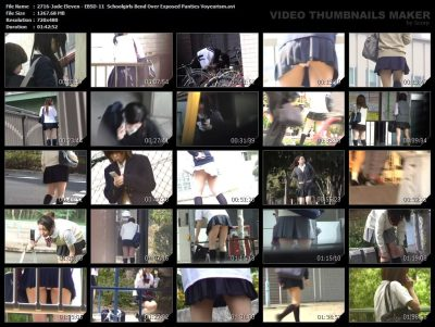 2716-Jade Eleven - EBSD-11  Schoolgirls Bend Over Exposed Panties Voyeurism.avi