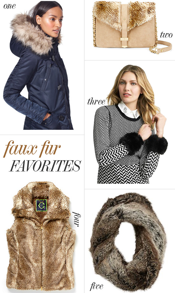 Skirt The Rules Blog; NYC fashion blogger; style blog; faux fur shopping collage; how to wear faux fur this winter; J.Crew Military Parka; C. Wonder Suede and Faux Fur Crossbody Bag; Banana Republic Faux Fur Cuffs; C. Wonder Faux Fur Vest; Piperlime Tinley Road Faux Fur Infinity Scarf