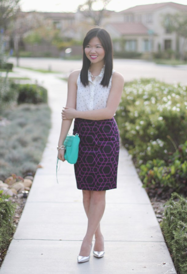 J.Crew Geometric Print Pencil Skirt