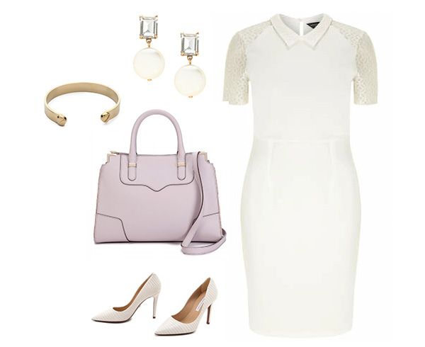 White Dress with Peter Pan Color