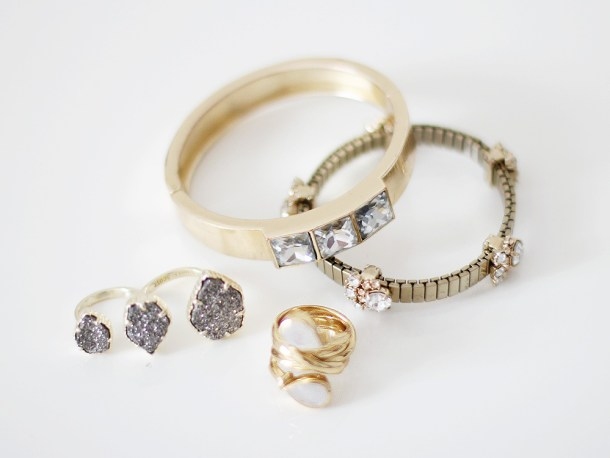 Statement Rings and Bracelets